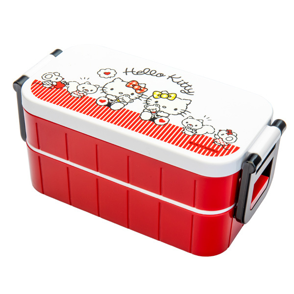 13587 sanrio hello kitty and mimmy bento lunch box
