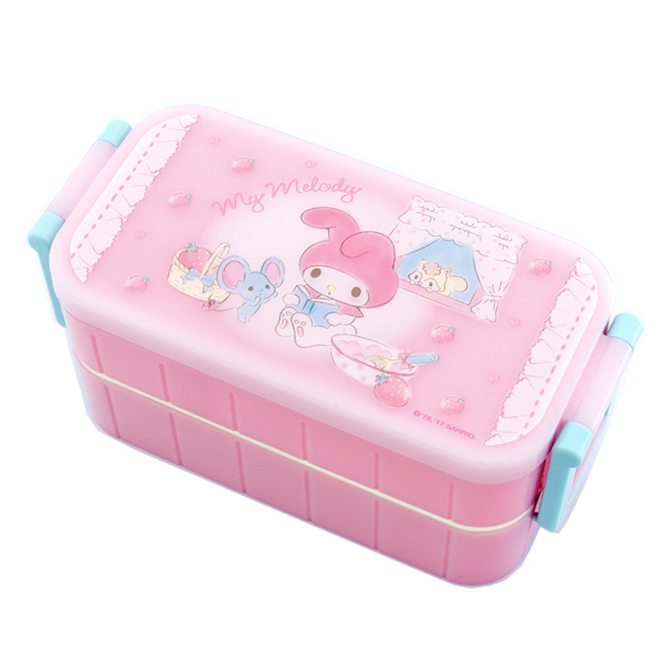 13606 my melody bento box with chopsticks