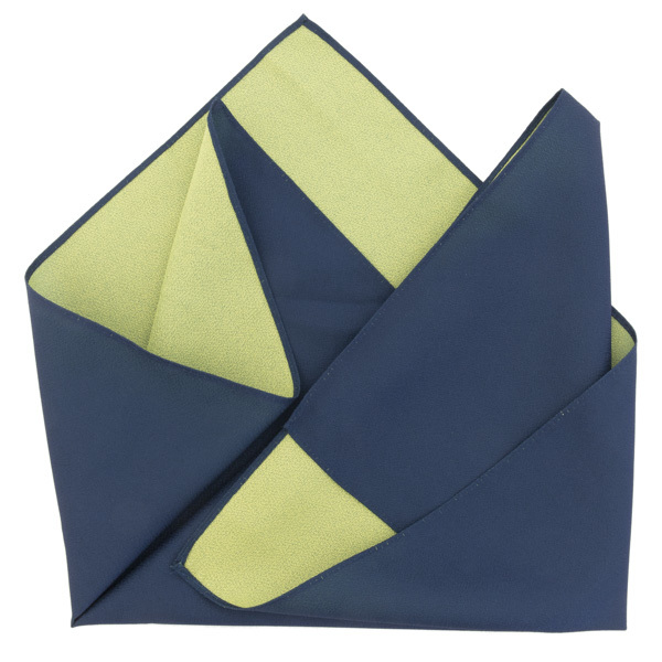 13667  furoshiki cloth   double sided  blue and green
