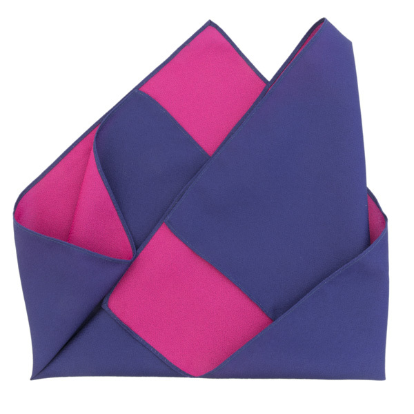 13668 furoshiki cloth   double sided  purple and pink