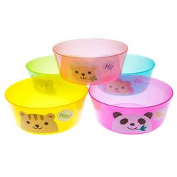 13801 animal party plastic bowl set