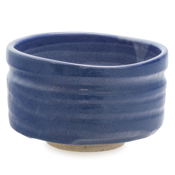 13940 ceramic matcha bowl   blue and beige