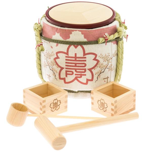 13958 designer's kagami biraki sake barrel