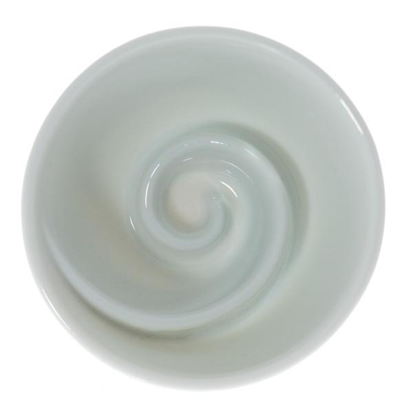 13964 ceramic sake ochoko cup  swirl