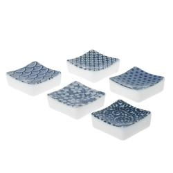 13984 ceramic square chopstick rest blue white