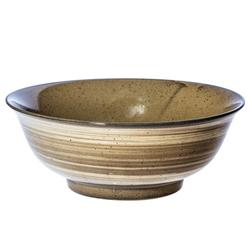 14014 ceramic noodle bowl   mustard yellow