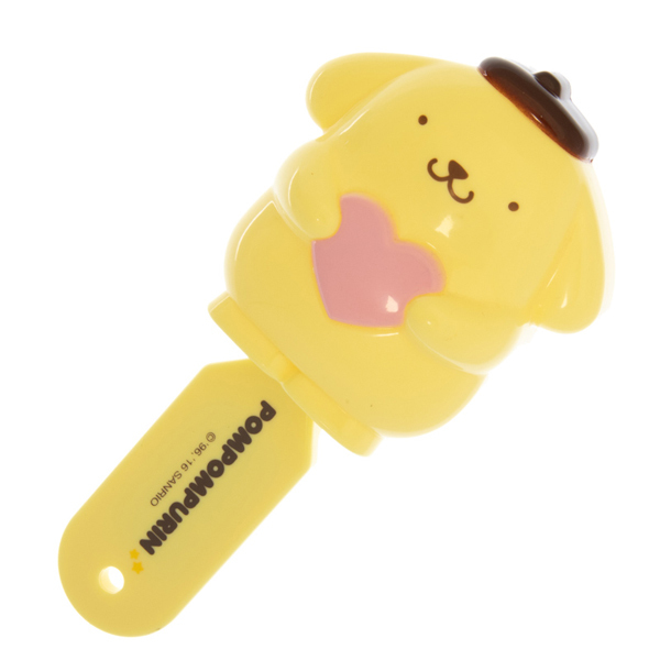 14131 sanrio pompompurin folding hair brush with mirror