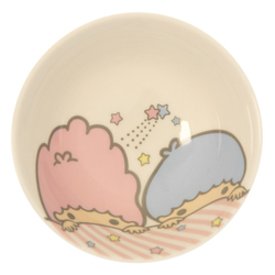 14121 sanrio little twin stars ceramic rice bowl   face pattern