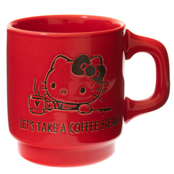 14166 sanrio hello kitty ceramic coffee mug   red