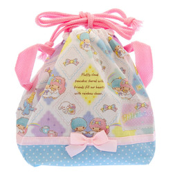 14130 sanrio little twin stars drawstring lunch bag