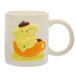 14140 sanrio pompompurin ceramic mug   raised character design