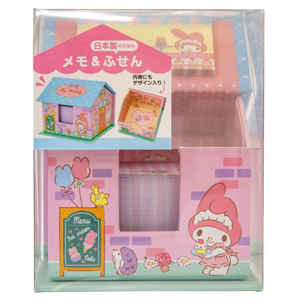 14141 sanrio my melody memo and sticky notes with holder