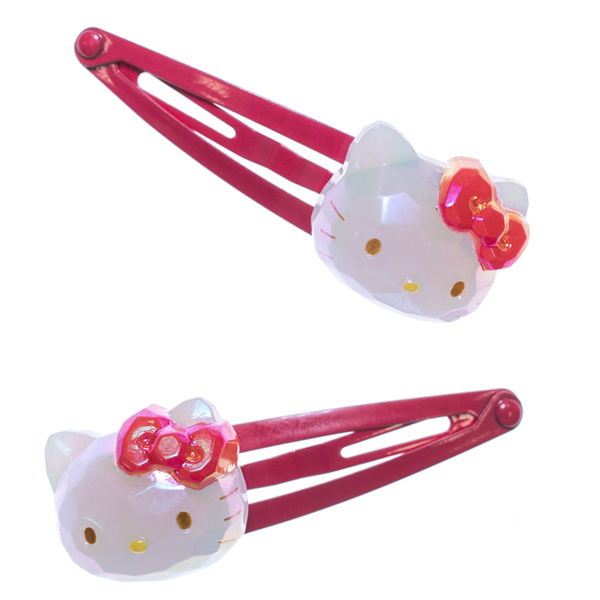 14155 Sanrio Hello Kitty Hair Clip Jewel Effect