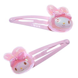 14156 sanrio my melody hair clip   jewel effect