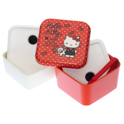 14158 sanrio hello kitty two tier square bento lunch box