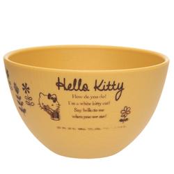 14164 sanrio hello kitty miso soup bowl   wood effect