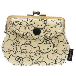 14174 sanrio hello kitty coin purse   light yellow  apple pattern