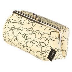 14173 sanrio hello kitty coin purse   light yellow  apple pattern