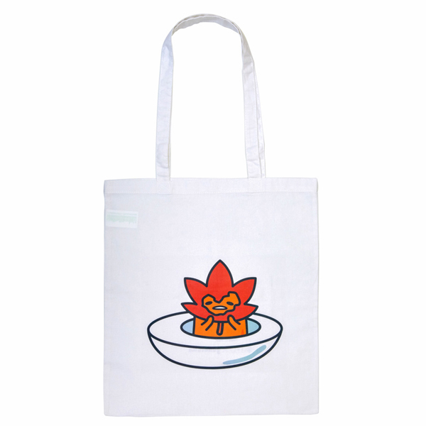 14290 gudetama leaf mask tote bag 1