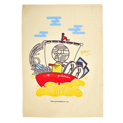 14293 gudetama treasure boat tea towel