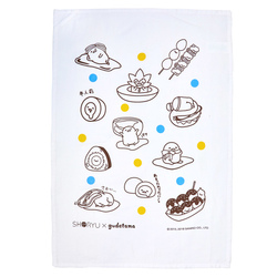 14294 gudetama tea towel