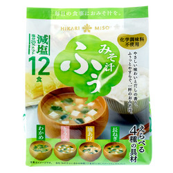 14286 hikari less salt instant miso soup  assortment