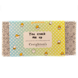 14334 creighton's chocolaterie sanrio gudetama milk chocolate  crackling popping candy