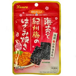 14345 kanro seasoned nori seaweed with umeboshi pickled plum pieces