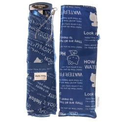 14360 sanrio hello kitty umbrella and case   dark blue