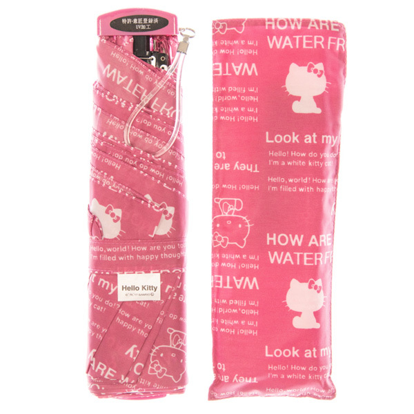 14360 sanrio hello kitty umbrella and case   pink