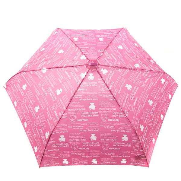 14360 sanrio hello kitty umbrella   pink  open