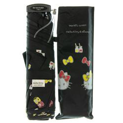 14361 sanrio hello kitty and mimmy umbrella   black