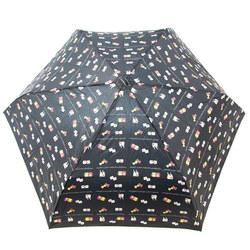 14361 sanrio hello kitty and mimmy umbrella   black  open