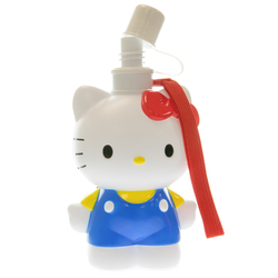 14411 sanrio hello kitty shaped plastic water bottle