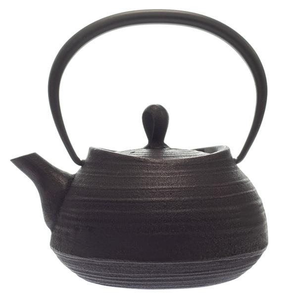 14430 itchu do cast iron tea pot   hakeme  round shaped