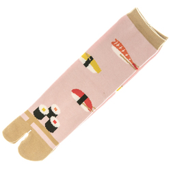 14414 japanese t abi split toe socks   sushi pattern
