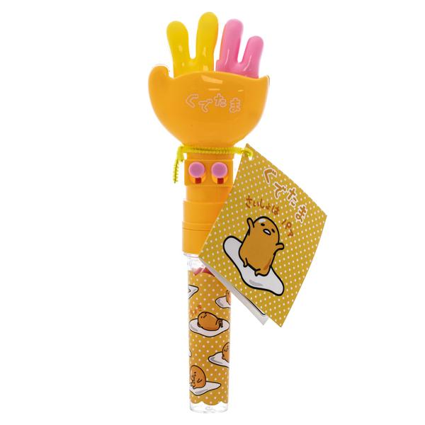 14543 sanrio gudetama rock paper scissors toy with gumballs