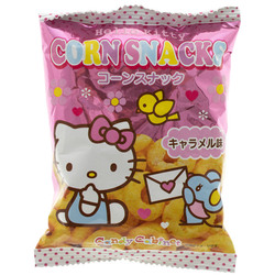 14524 sanrio hello kitty caramel flavoured corn snacks