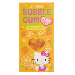 14527 sanrio hello kitty orange flavoured bubblegum