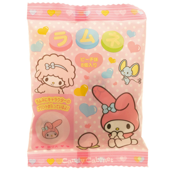 14554 sanrio my melody peach flavoured ramune tablet candy