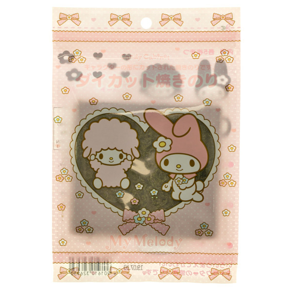 14545 sanrio my melody die cut nori seaweed character cut out sheets