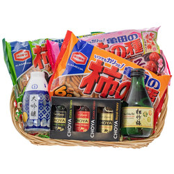 14569 japanese tipples and snacks christmas hamper open