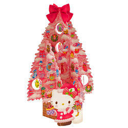 14496 sanrio greetings card   hello kitty pop up christmas tree