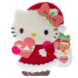 14495 sanrio greetings card   hello kitty talking  light up musical gift card