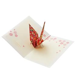 14492 sanrio greetings card   origami crane pop up christmas card
