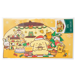 14507  sanrio greetings card   pompompurin christmas pop up card