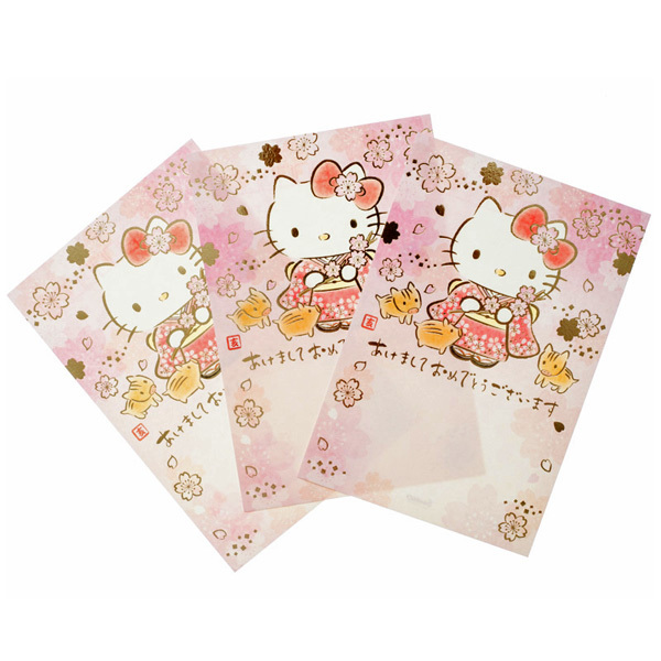 14514 sanrio greetings hello kitty 2019 new years postcards