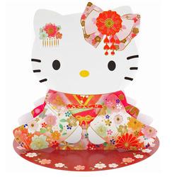 14510 sanrio greetings hello kitty kimono pop up card %282%29