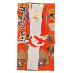14467 traditional japanese gift envelope with handkerchief   fan pattern