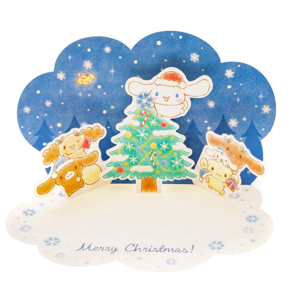 Christmas Pop Up Cards.Sanrio Greetings Cinnamoroll For You Christmas Pop Up Card 15 G 1 Card Low In Stock Only 2 Available